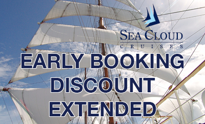 Sea Cloud Spirit Early Booking Discount Extended!