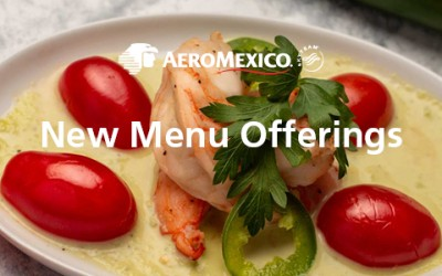 AeroMexico Launches New Onboard Menu